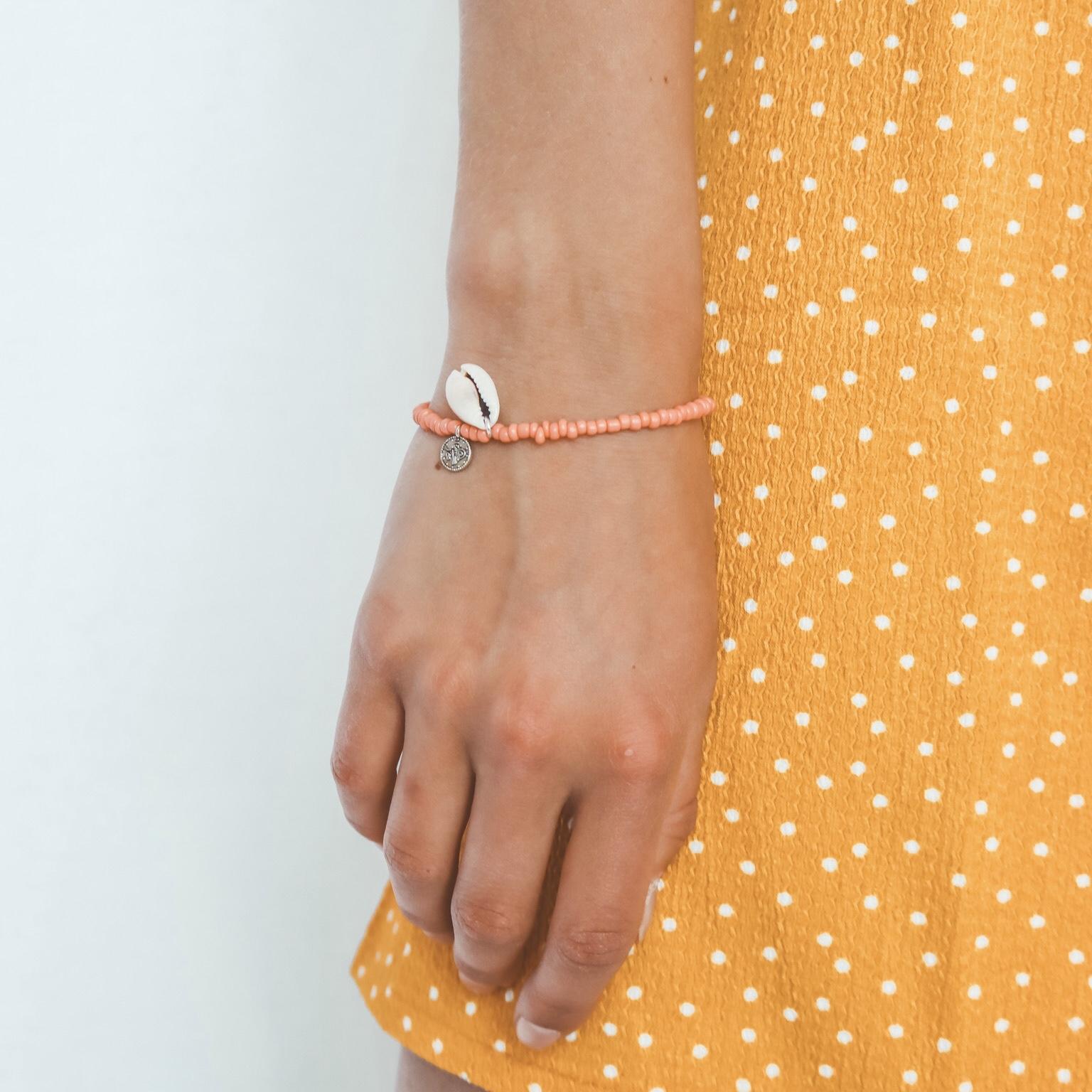 Shells coins bracelet coral