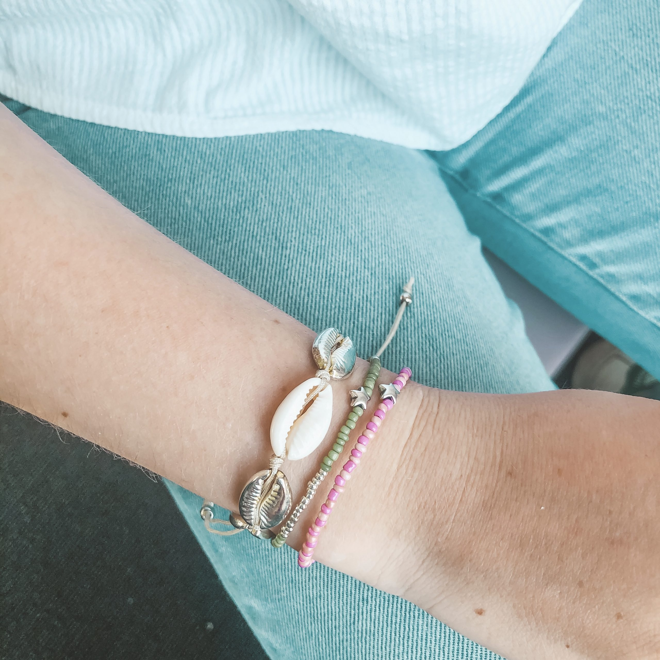 Little star bracelet pink