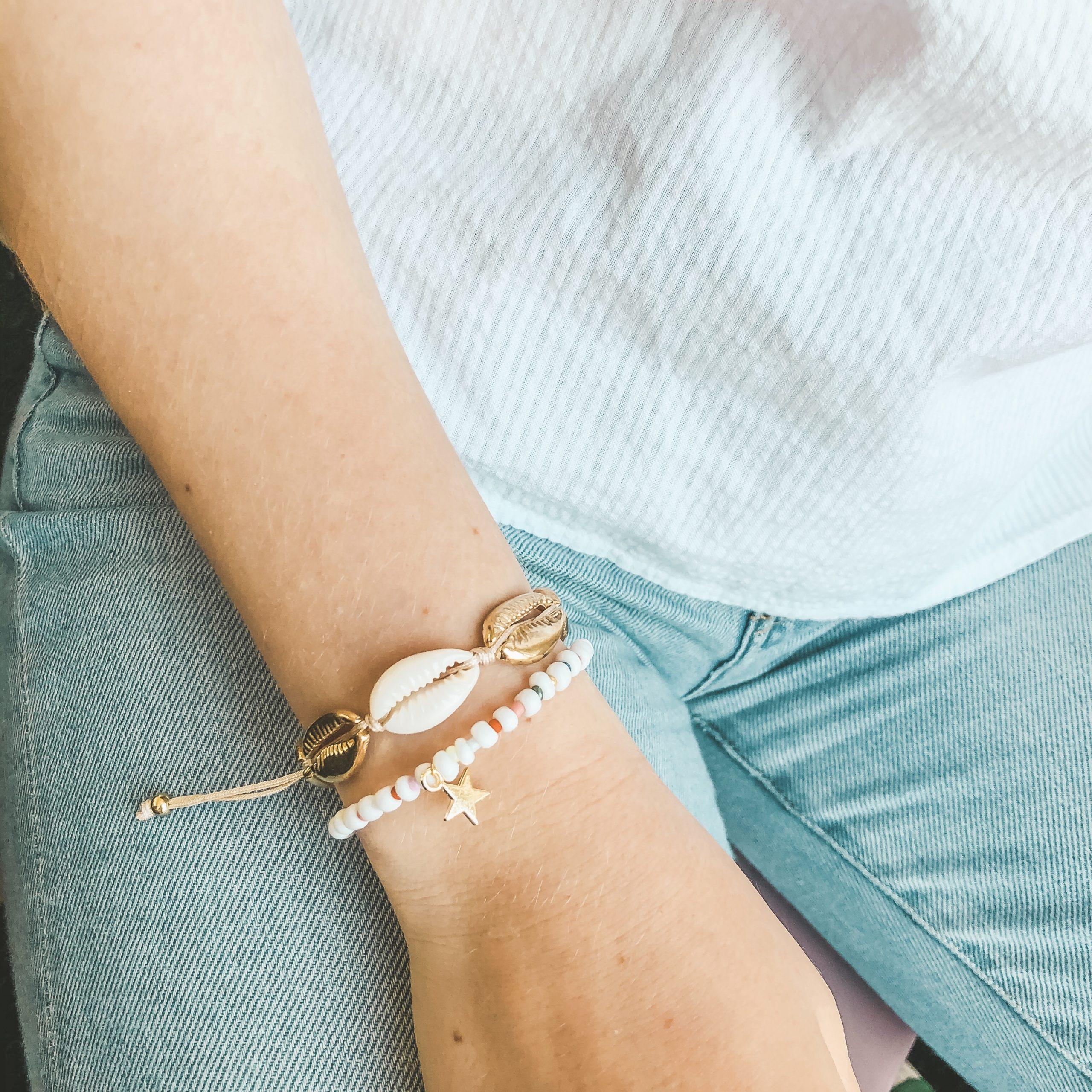 Multicolour star bracelet