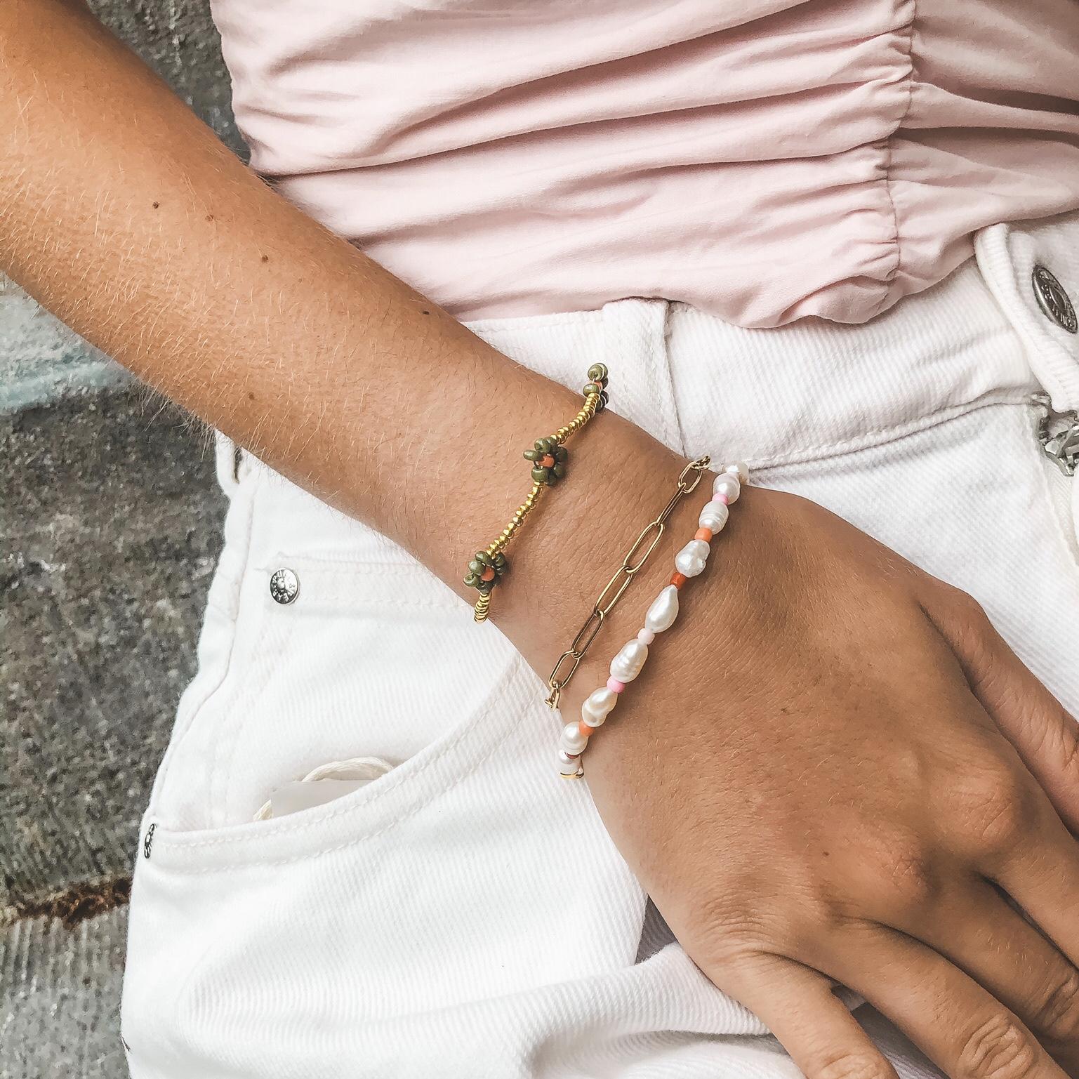 Link chain bracelet gold