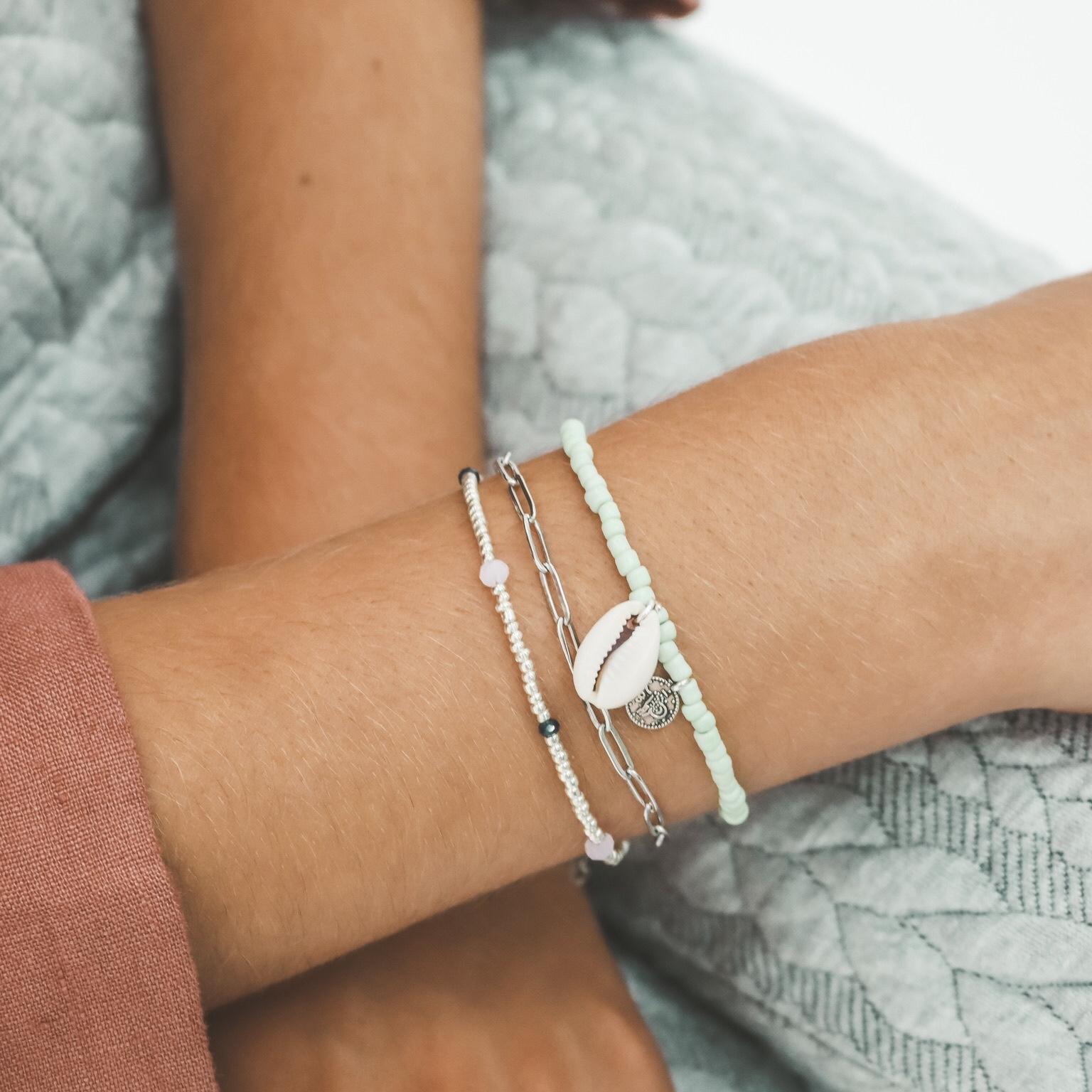 Link chain bracelet silver