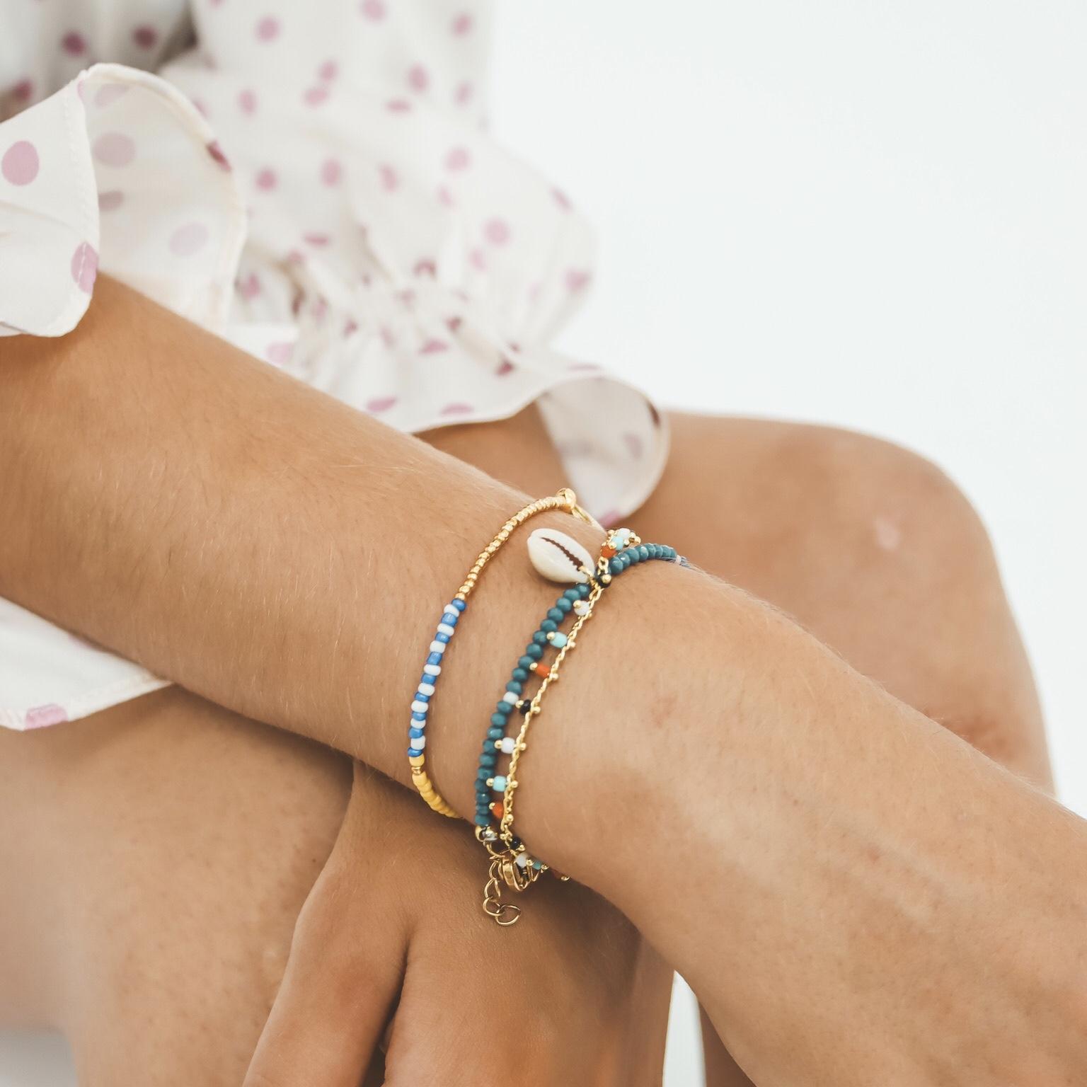 Fine multicolour dots bracelet
