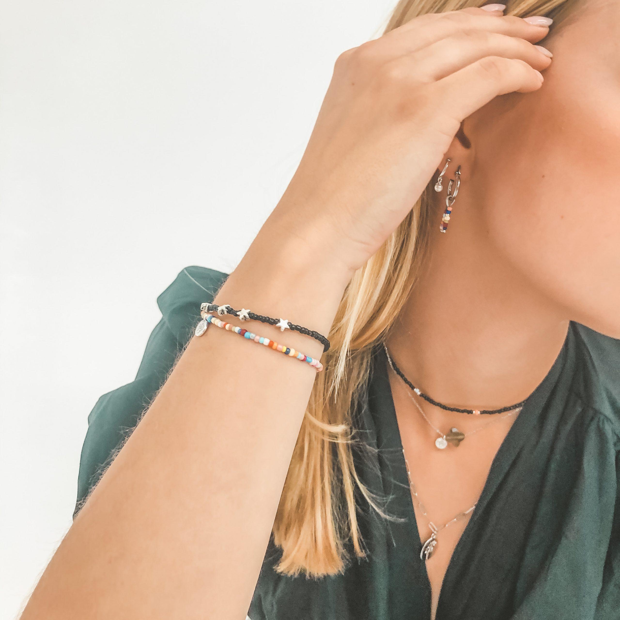 Multicolour bracelet silver