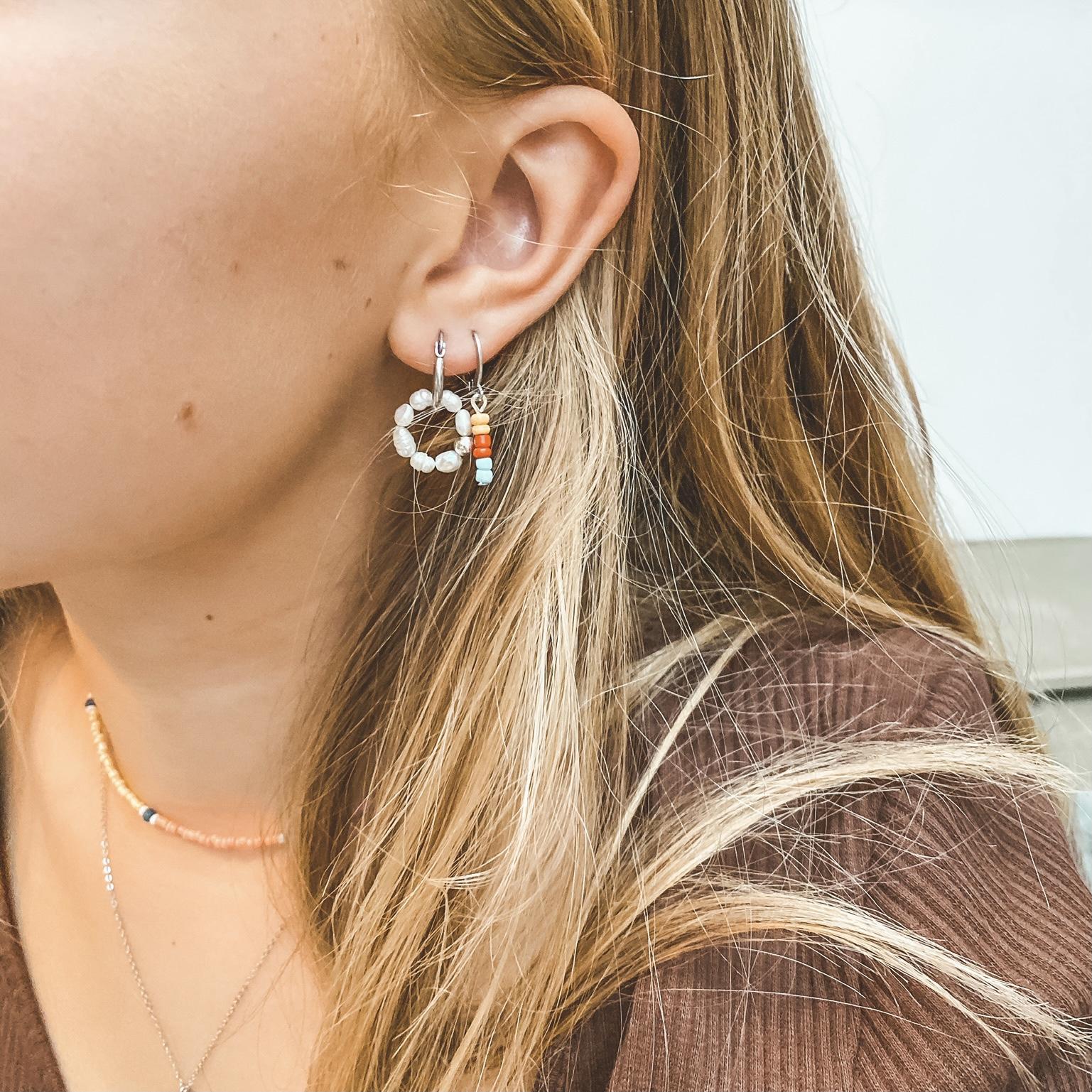 Hoop beads silver 11