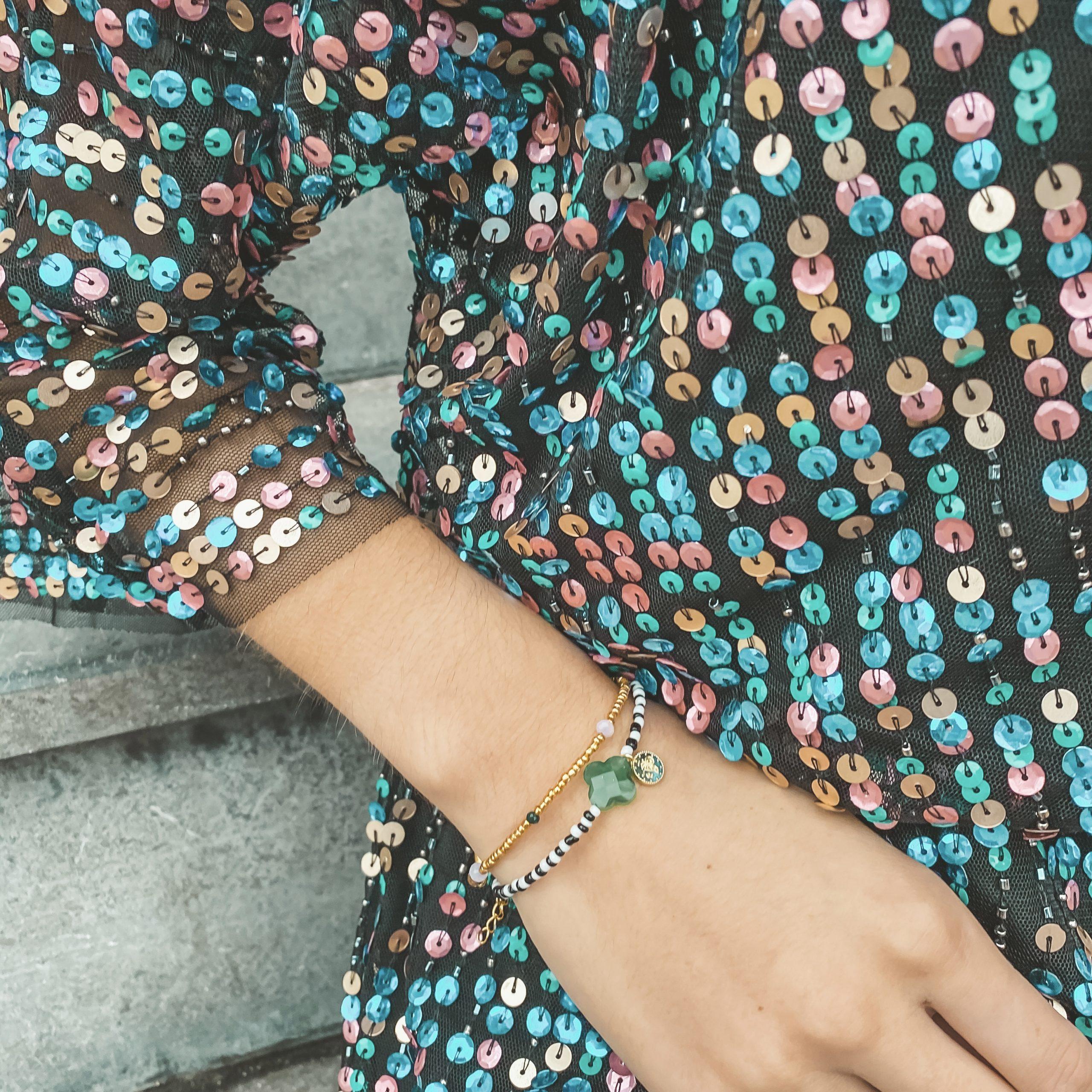 Green clover bracelet