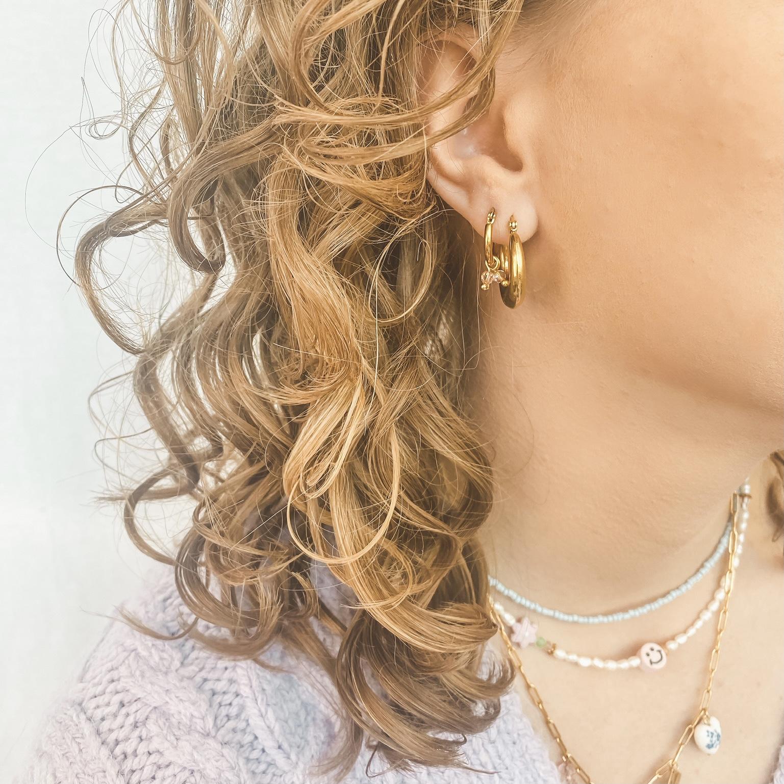 Hoop beads gold 60