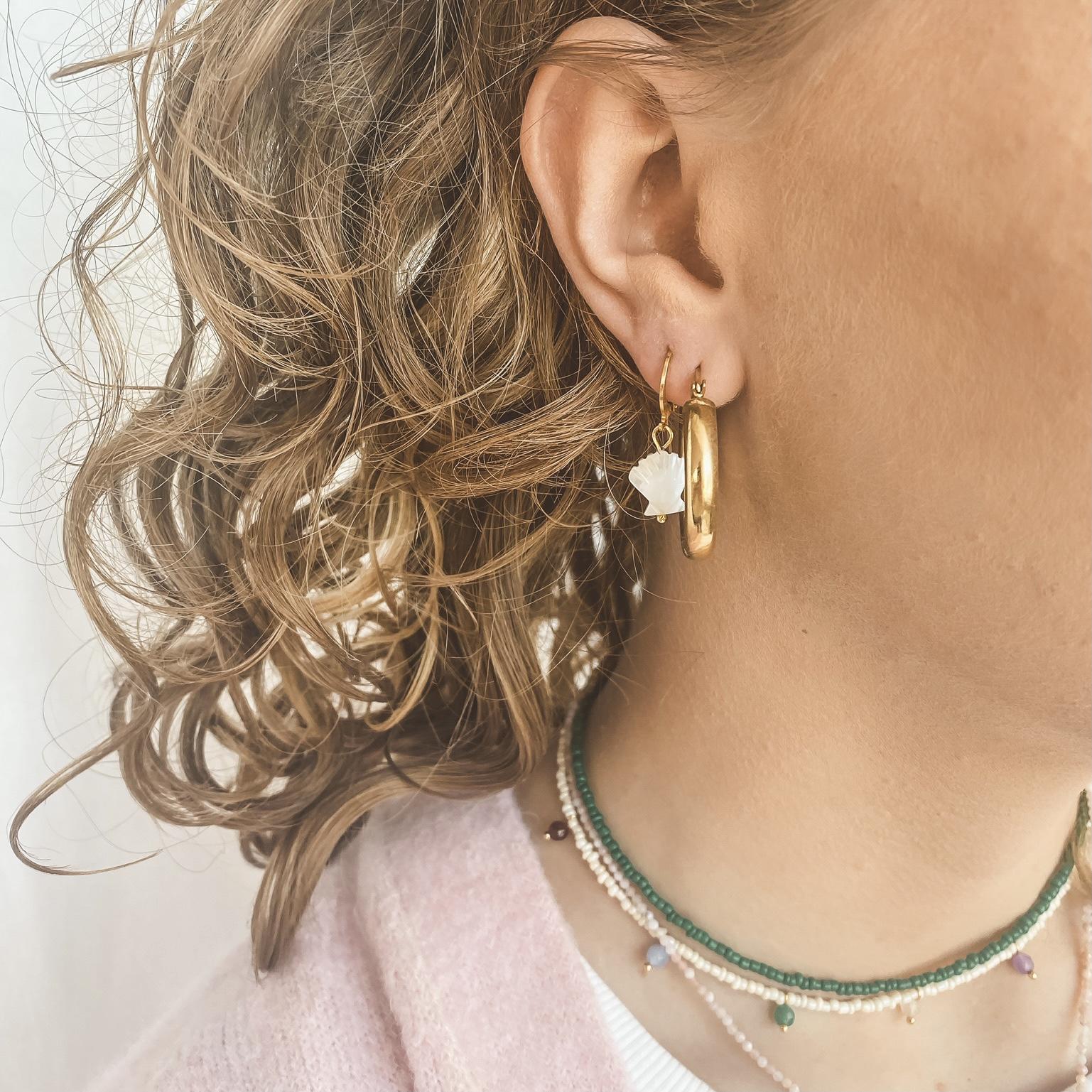 Hoop beads gold 65