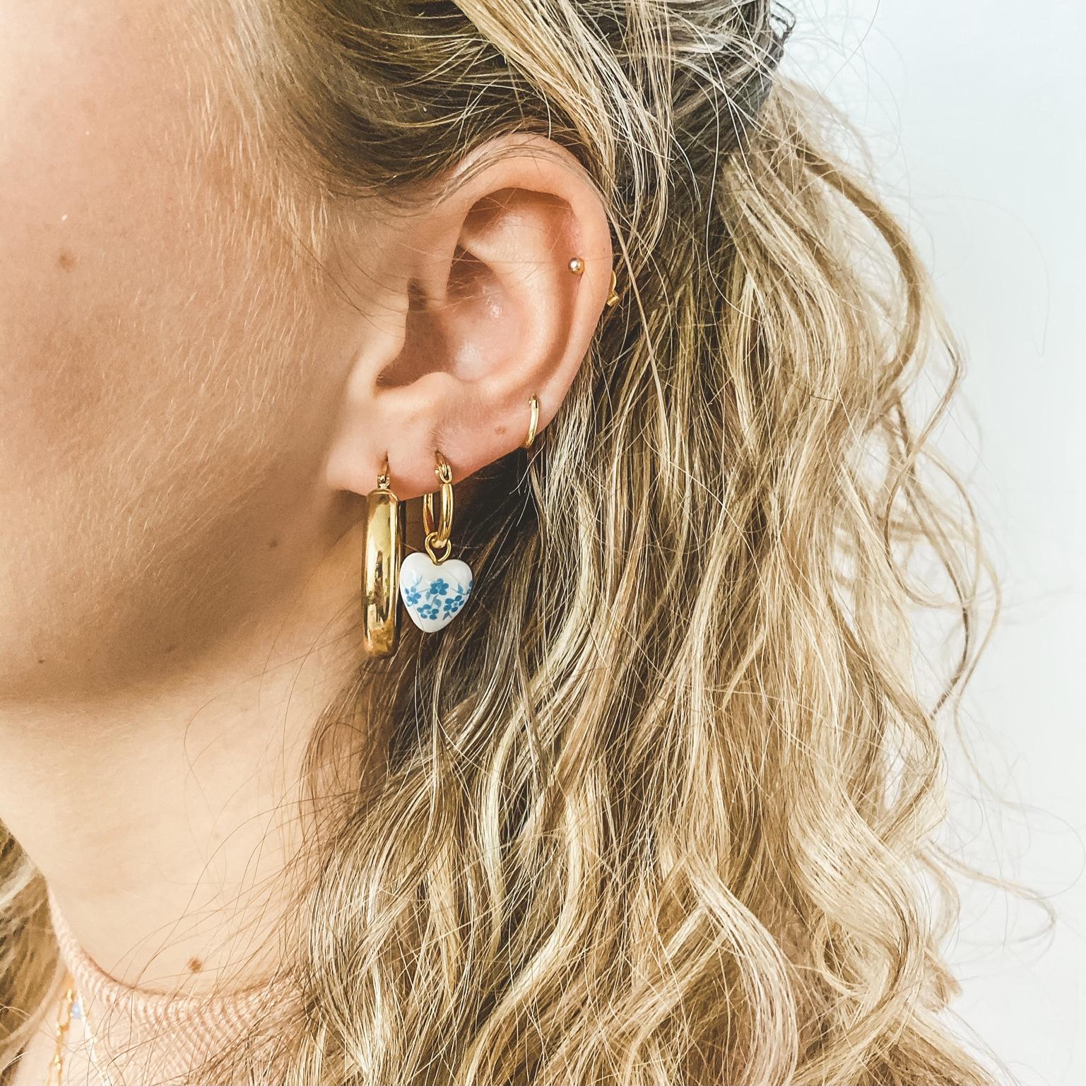 Hoop beads gold 46
