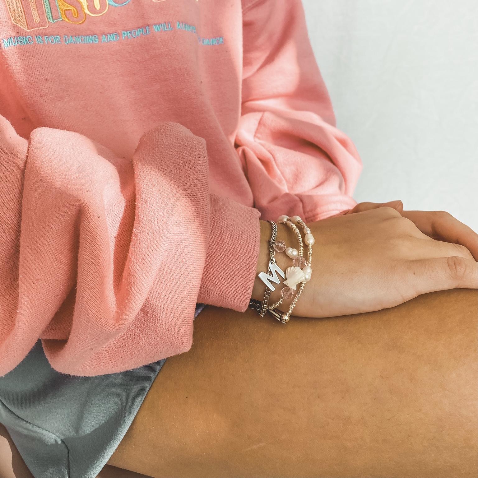 Multi pearls bracelet silver