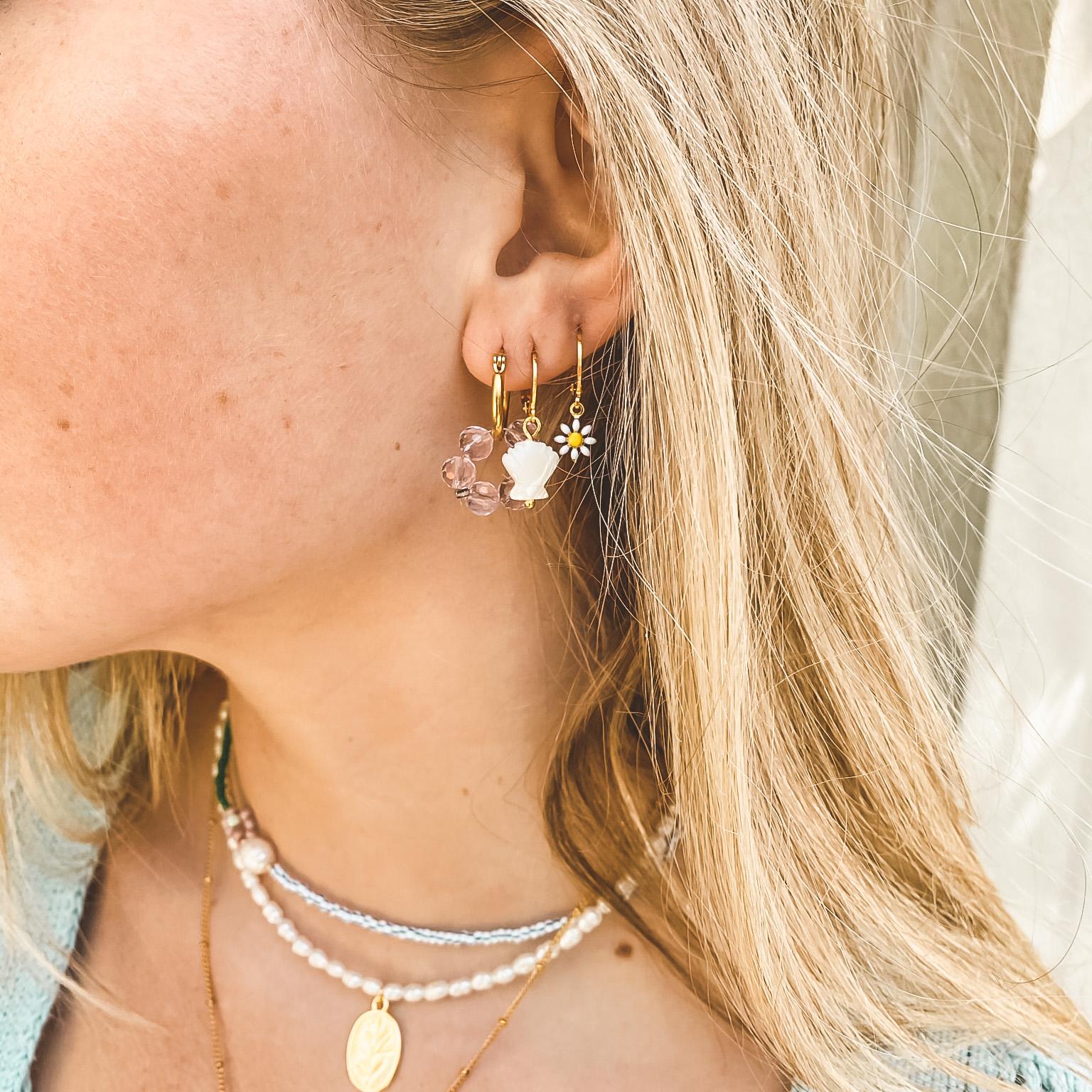Hoop beads gold 58