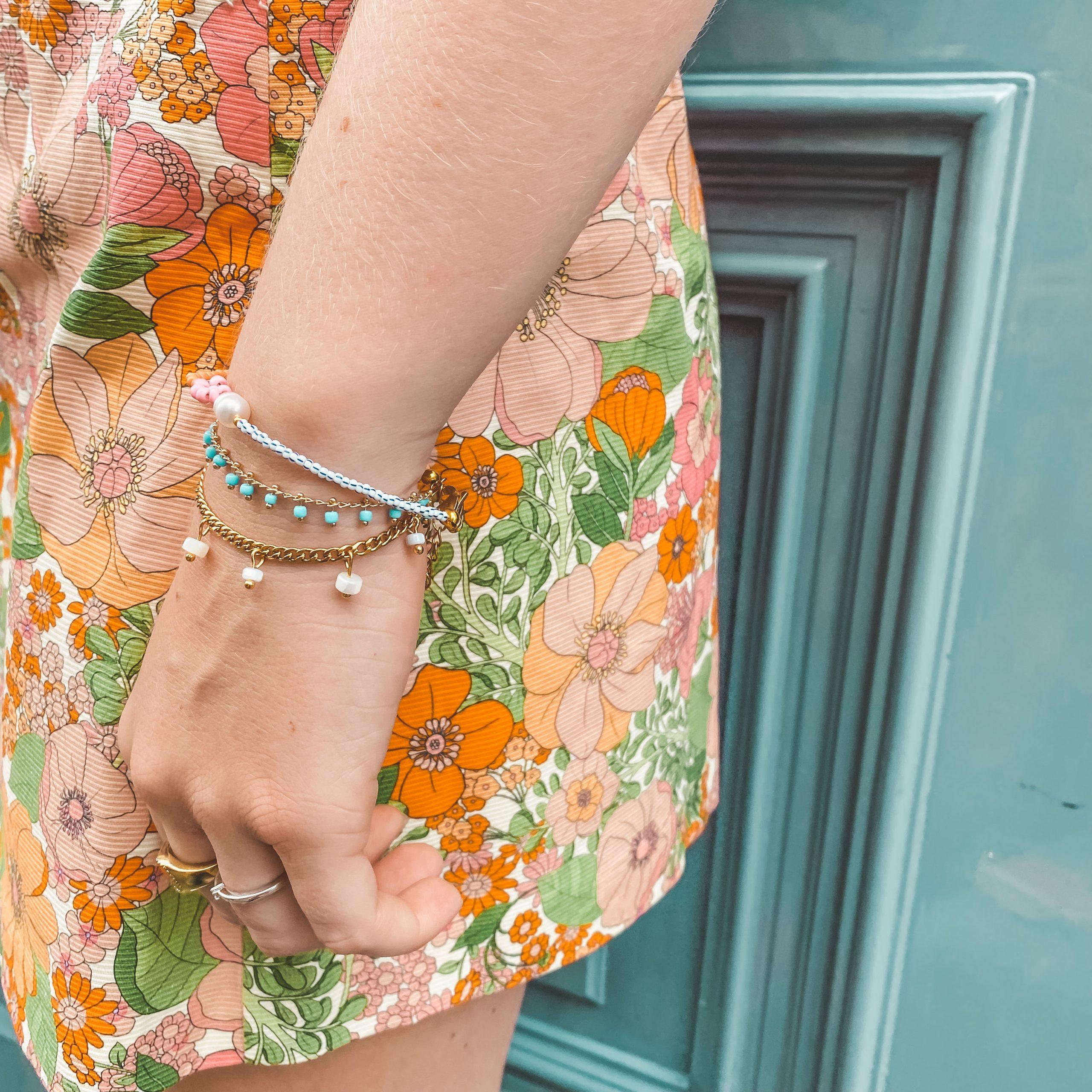 5 dots bracelet gold fine bracelet